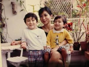 毛孟靜與兩名兒子,一直以朋友的態度相處。