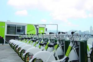 悠遊西九單車服務於今年四月開始