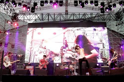 「 觸執毛」樂隊於深圳迷笛音樂節表演。(受訪者提供)